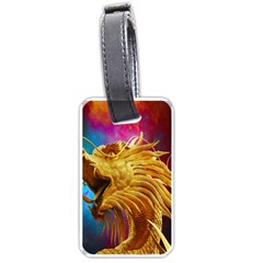 Broncefigur Golden Dragon Luggage Tags (Two Sides)