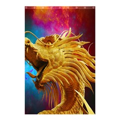 Broncefigur Golden Dragon Shower Curtain 48  x 72  (Small)