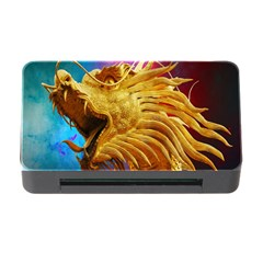Broncefigur Golden Dragon Memory Card Reader with CF