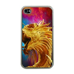 Broncefigur Golden Dragon Apple iPhone 4 Case (Clear)