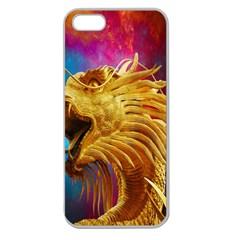 Broncefigur Golden Dragon Apple Seamless iPhone 5 Case (Clear)