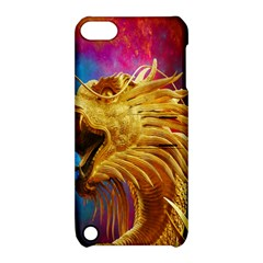 Broncefigur Golden Dragon Apple iPod Touch 5 Hardshell Case with Stand