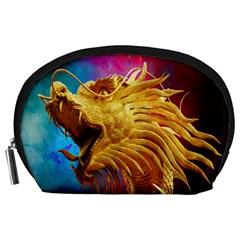 Broncefigur Golden Dragon Accessory Pouches (Large)
