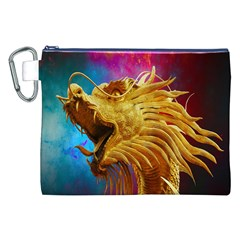 Broncefigur Golden Dragon Canvas Cosmetic Bag (xxl)