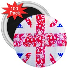 British Flag Abstract 3  Magnets (100 pack)