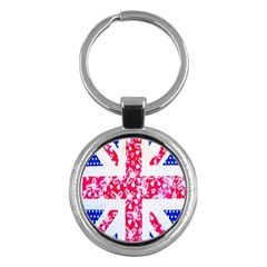 British Flag Abstract Key Chains (Round)