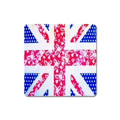 British Flag Abstract Square Magnet