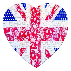 British Flag Abstract Jigsaw Puzzle (Heart)