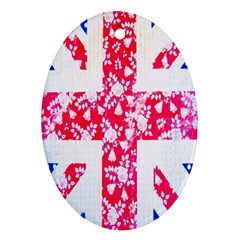 British Flag Abstract Oval Ornament (Two Sides)