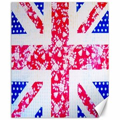 British Flag Abstract Canvas 8  x 10