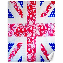 British Flag Abstract Canvas 12  x 16
