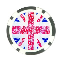 British Flag Abstract Poker Chip Card Guard (10 pack)