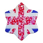 British Flag Abstract Ornament (Snowflake) Front