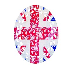 British Flag Abstract Ornament (Oval Filigree)
