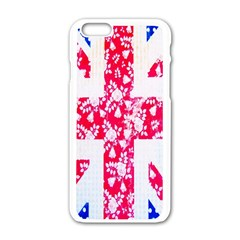 British Flag Abstract Apple iPhone 6/6S White Enamel Case