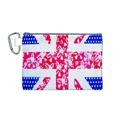 British Flag Abstract Canvas Cosmetic Bag (M)