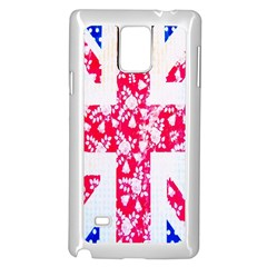 British Flag Abstract Samsung Galaxy Note 4 Case (White)
