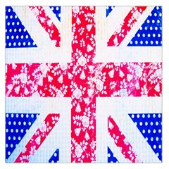 British Flag Abstract Large Satin Scarf (Square)
