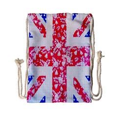 British Flag Abstract Drawstring Bag (small)