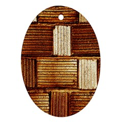Brown Wall Tile Design Texture Pattern Ornament (Oval)