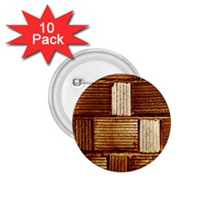 Brown Wall Tile Design Texture Pattern 1.75  Buttons (10 pack)