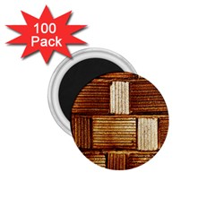 Brown Wall Tile Design Texture Pattern 1.75  Magnets (100 pack)