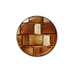 Brown Wall Tile Design Texture Pattern Hat Clip Ball Marker