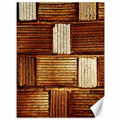 Brown Wall Tile Design Texture Pattern Canvas 36  x 48