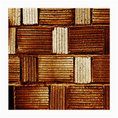 Brown Wall Tile Design Texture Pattern Medium Glasses Cloth (2-Side)