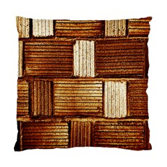 Brown Wall Tile Design Texture Pattern Standard Cushion Case (One Side)