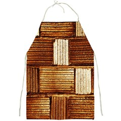 Brown Wall Tile Design Texture Pattern Full Print Aprons