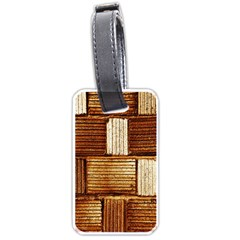 Brown Wall Tile Design Texture Pattern Luggage Tags (One Side)