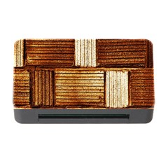 Brown Wall Tile Design Texture Pattern Memory Card Reader with CF