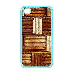 Brown Wall Tile Design Texture Pattern Apple iPhone 4 Case (Color)