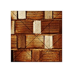 Brown Wall Tile Design Texture Pattern Acrylic Tangram Puzzle (4  X 4 )
