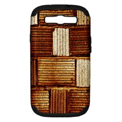 Brown Wall Tile Design Texture Pattern Samsung Galaxy S Iii Hardshell Case (pc+silicone)