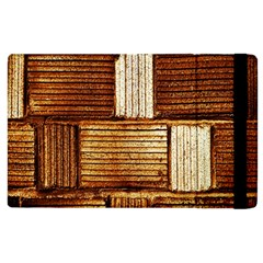 Brown Wall Tile Design Texture Pattern Apple iPad 3/4 Flip Case