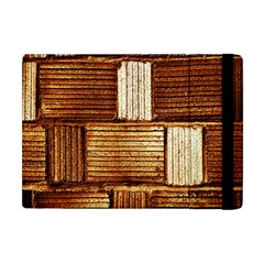 Brown Wall Tile Design Texture Pattern Apple iPad Mini Flip Case