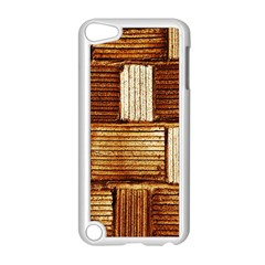 Brown Wall Tile Design Texture Pattern Apple Ipod Touch 5 Case (white)