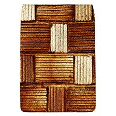 Brown Wall Tile Design Texture Pattern Flap Covers (L)
