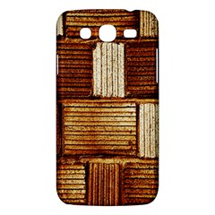 Brown Wall Tile Design Texture Pattern Samsung Galaxy Mega 5.8 I9152 Hardshell Case