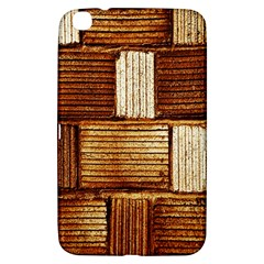 Brown Wall Tile Design Texture Pattern Samsung Galaxy Tab 3 (8 ) T3100 Hardshell Case