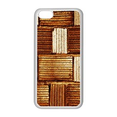 Brown Wall Tile Design Texture Pattern Apple iPhone 5C Seamless Case (White)
