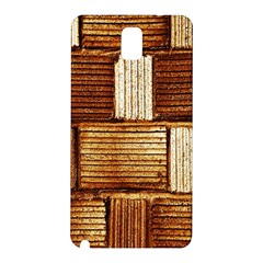 Brown Wall Tile Design Texture Pattern Samsung Galaxy Note 3 N9005 Hardshell Back Case