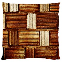 Brown Wall Tile Design Texture Pattern Standard Flano Cushion Case (One Side)