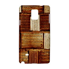 Brown Wall Tile Design Texture Pattern Samsung Galaxy Note 4 Hardshell Case
