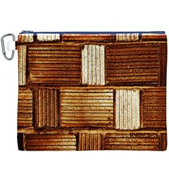 Brown Wall Tile Design Texture Pattern Canvas Cosmetic Bag (XXXL)