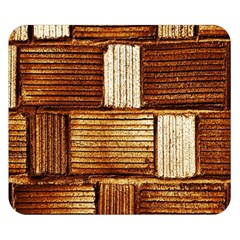 Brown Wall Tile Design Texture Pattern Double Sided Flano Blanket (Small)