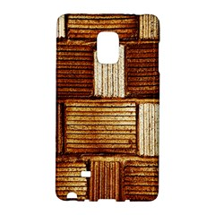 Brown Wall Tile Design Texture Pattern Galaxy Note Edge