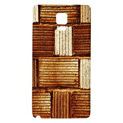 Brown Wall Tile Design Texture Pattern Galaxy Note 4 Back Case